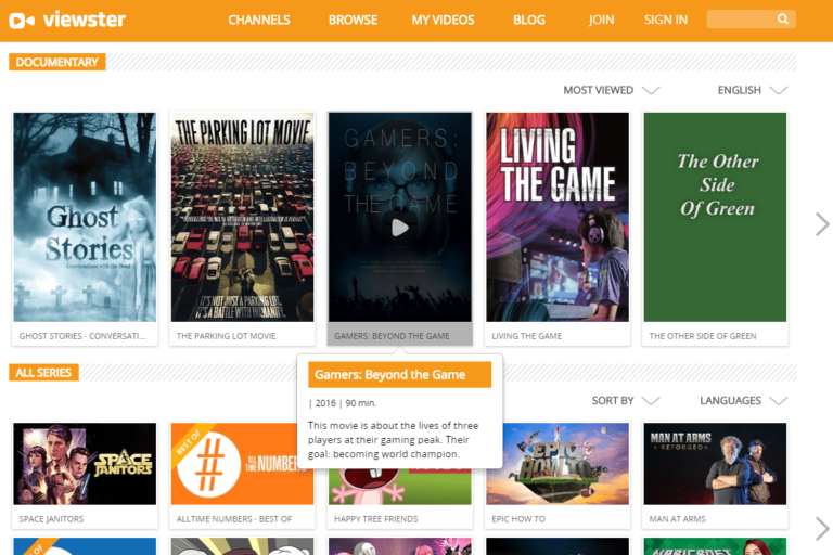 Viewster – free Online Legal movies and TV shows